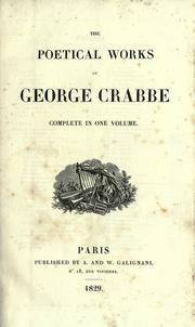 Cover of: Poems by George Crabbe