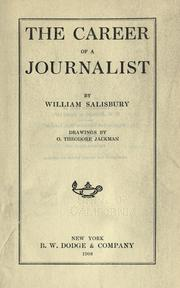 Cover of: The career of a journalist | Salisbury, William