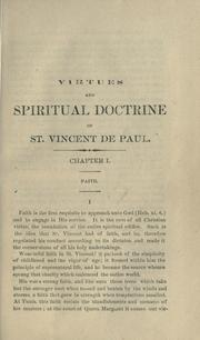 Cover of: Virtues and spiritual doctrine of St. Vincent de Paul by Michel Ulysse Maynard