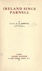 Cover of: Ireland since Parnell | D. D. Sheehan