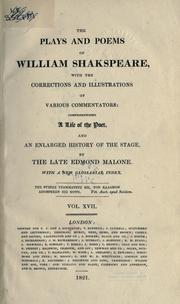 The Plays and Poems of William Shakspeare (King Henry IV. Part 2 / King Henry V)