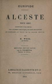 Cover of: Alcestis by Euripides