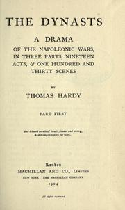 Cover of: The dynasts | Thomas Hardy