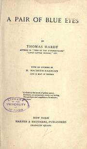 Cover of: A Pair of Blue Eyes by Thomas Hardy