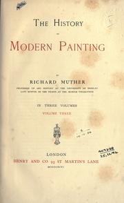 Cover of: The history of modern painting | Muther, Richard