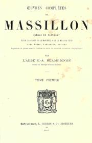 Cover of: Oeuvres compl©Łetes de Massillon, ©Øev©Đeque de Clermont by Jean-Baptiste Massillon