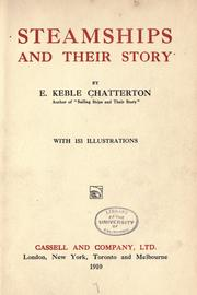 Cover of: Steamships and their story by E. Keble Chatterton
