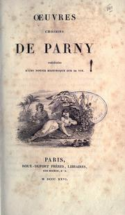 Cover of: OEuvres choisies de Parny by Évariste Parny