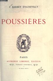 Cover of: Poussières | J. Barbey d'Aurevilly