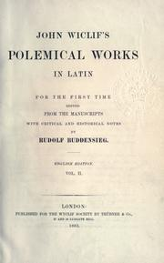Cover of: John Wiclif's Polemical works in Latin by John Wycliffe