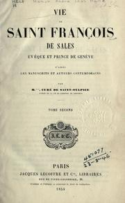 Cover of: Vie de Saint François de Sales by M. Hamon