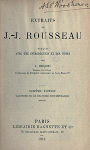 Cover of: Extraits by Jean-Jacques Rousseau