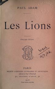 Cover of: Les lions | Paul Adam