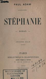 Cover of: Stéphanie | Adam, Paul