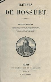 Cover of: Oeuvres | Jacques Bénigne Bossuet