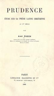 Cover of: Prudence | Aimé Puech