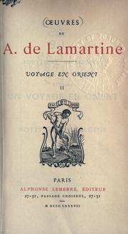 Cover of: Voyage en Orient by Alphonse de Lamartine