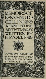 Cover of: Vita by Benvenuto Cellini