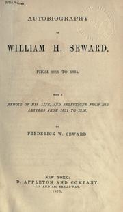 Cover of: Autobiography | William Henry Seward