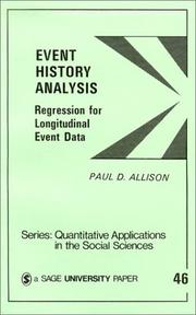 Cover of: Event history analysis | Paul David Allison