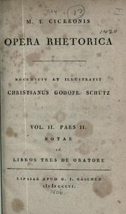 Cover of: Selected works by Cicero