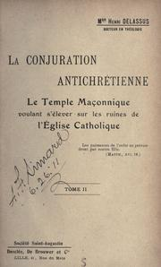 Cover of: La conjuration antichrétienne | Henri Delassus