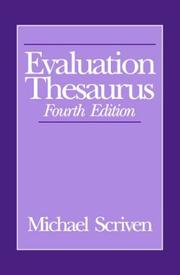Cover of: Evaluation thesaurus by Michael Scriven