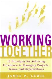 Cover of: Working Together by James P. Lewis