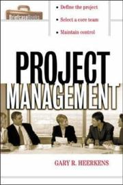 Cover of: Project Management by Gary R. Heerkens