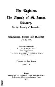 Cover of: The Registers of the Church of St James, Didsbury by Lancashire Parish Register Society