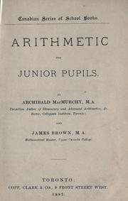 Cover of: Arithmetic for junior pupils | Archibald McMurchy