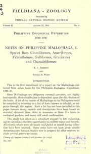 Cover of: Notes on Philippine Mallophaga, I | K. C. Emerson