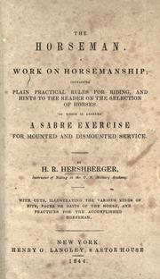 Cover of: The horseman by H. R. Hershberger