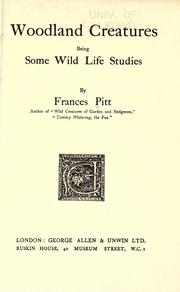 Cover of: Woodland Creatures by Frances Pitt