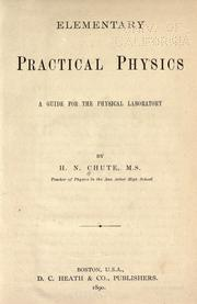 Cover of: Elementary practical physics by Horatio N. Chute