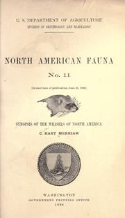 Cover of: Synopsis of the weasels of North America | C. Hart Merriam