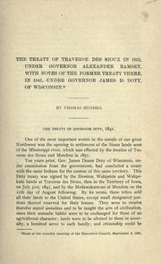 Cover of: The treaty of Traverse des Sioux in 1851 by Hughes, Thomas