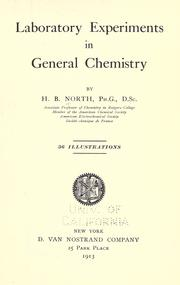 Cover of: Laboratory experiments in general chemistry | Henry Briggs North