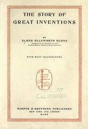 Cover of: The Story Of Great Inventions | Elmer Ellsworth Burns