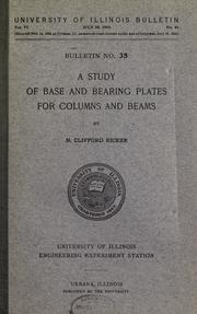 Cover of: A study of base and bearing plates for columns and beams | N. Clifford Ricker