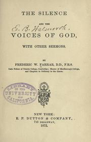 Cover of: The silence and the voices of God | Frederic William Farrar