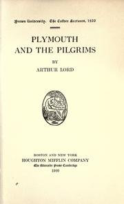 Cover of: Plymouth and the Pilgrims | Arthur Lord