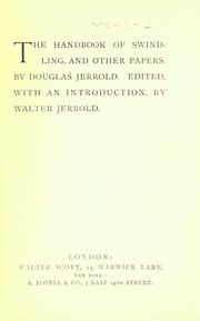 Cover of: The handbook of swindling by Douglas William Jerrold