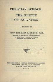 Cover of: Christian science: the science of salvation by Hermann Siegfried Hering
