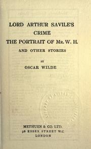 Cover of: Lord Arthur Savile's crime by Oscar Wilde