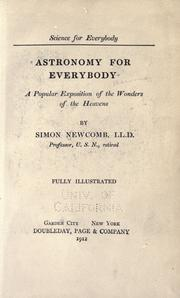 Cover of: Astronomy for everybody by Simon Newcomb