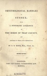 Cover of: Ornithological rambles in Sussex by Arthur Edward Knox
