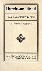 Cover of: Hurricane island by Watson, H. B. Marriott