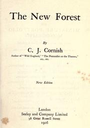 Cover of: The New Forest by C. J. Cornish