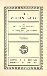 Cover of: The violin lady | Daisy Rhodes Campbell